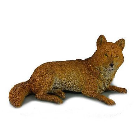 AAA 52001 Brown Wolf Lying Wild Animal Toy Model Figurine Replica