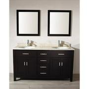 Bauhaus Bath Celize 63'' Double Bathroom Vanity Set with Mirror