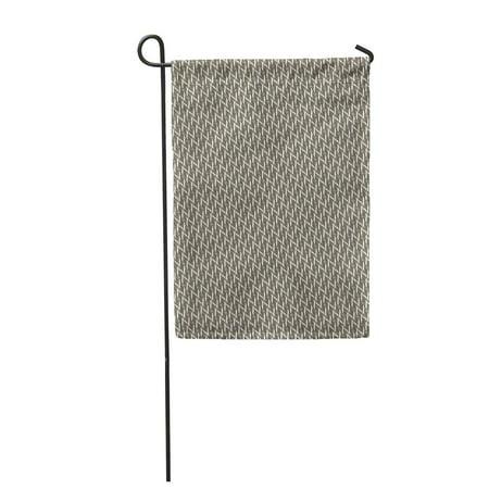 SIDONKU Brown Carpet Twill Pattern Abstract Framework Geometric Grid Jagged Garden Flag Decorative Flag House Banner 12x18 - Twill Grid