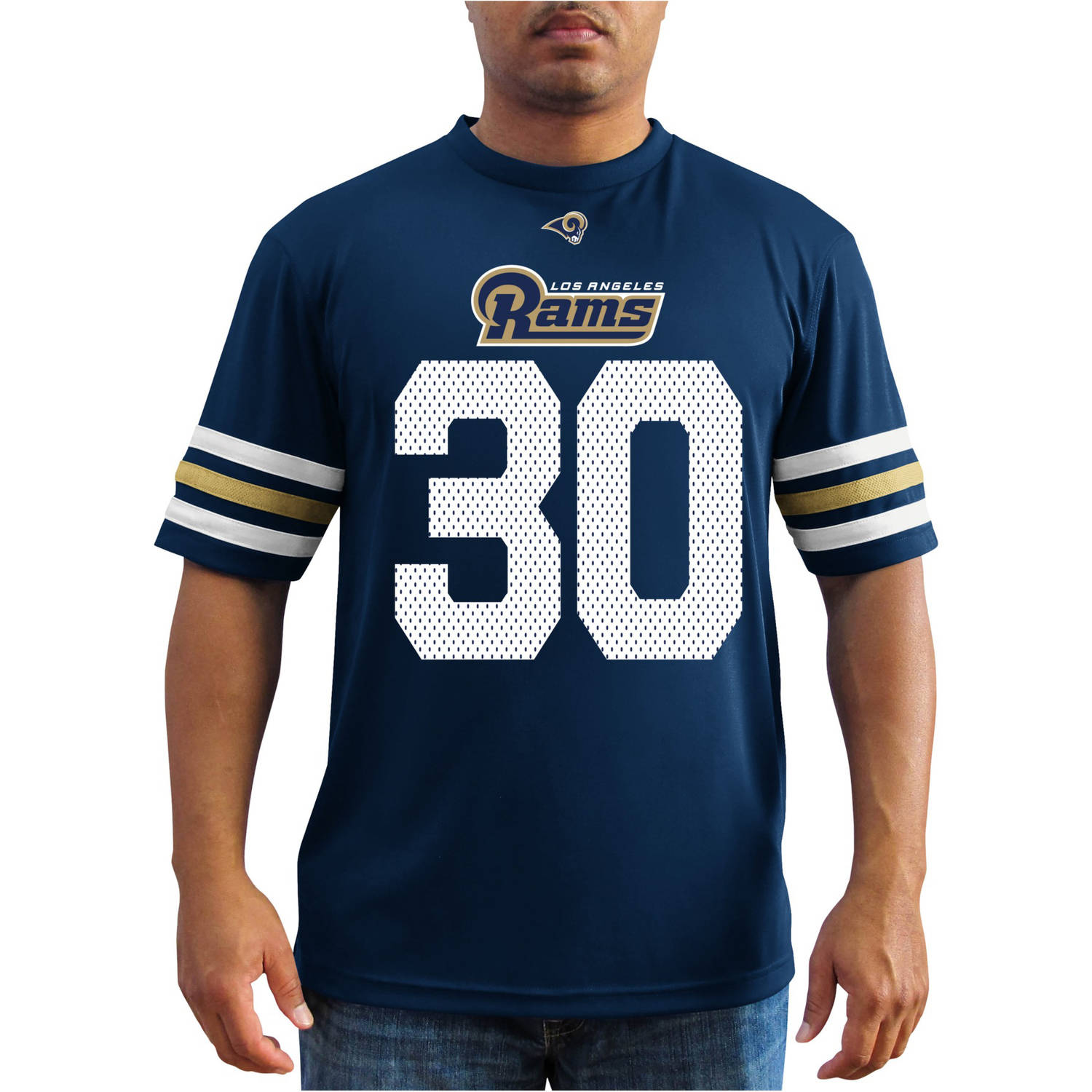 NFL Men's Los Angeles Rams NFL T Gurley 30 Player Synthetic Fashion Tee