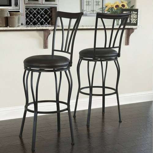Ashton Swivel Single Pack Barstool, Dark Bronze Metal Finish, Set of 2