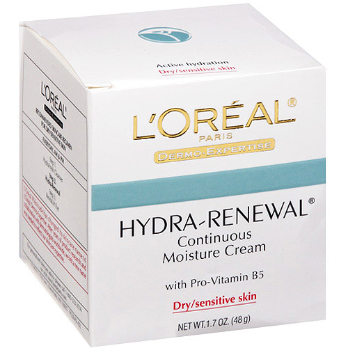 L'Oreal Paris Hydra-Renewal Moisture Cream with Pro-Vitamin B5, 1.7 oz