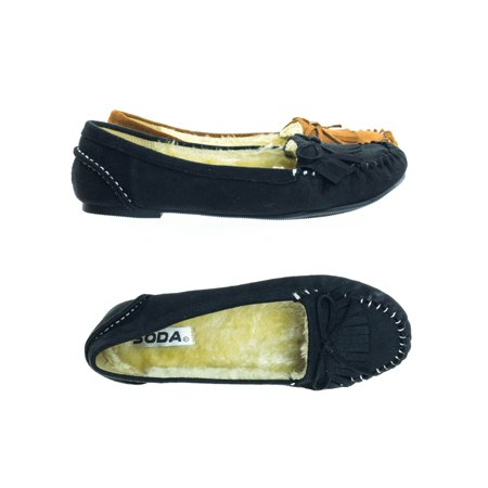 Parry by Soda, Winter Flat Loafer Moccasin w Faux Fur Inner Lining