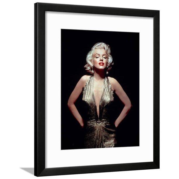 Gentlemen Prefer Blondes Marilyn Monroe Directed By Howard Hawks 1953 Framed Art Print Wall Art Walmart Com Walmart Com