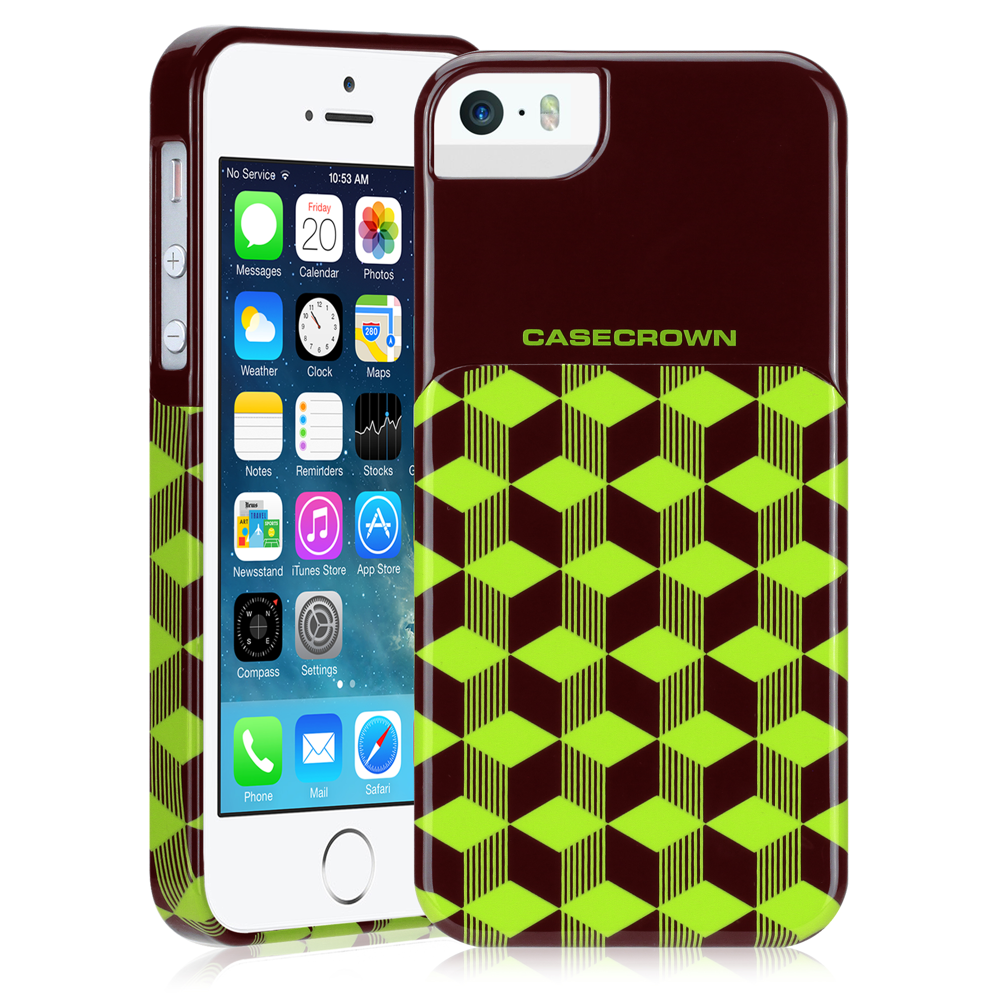 CaseCrown GeoBlock Case (Green) for Apple iPhone 5