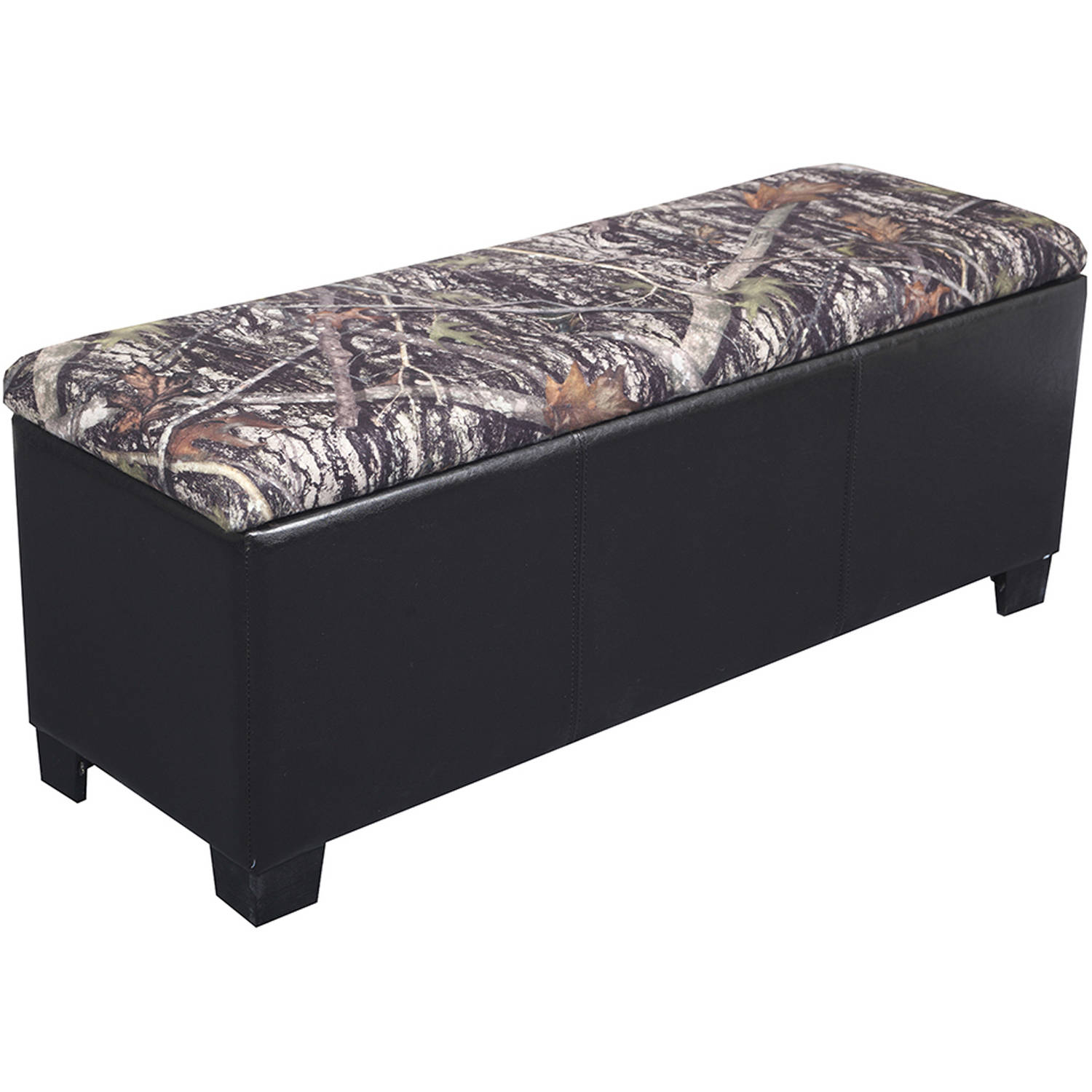 Camo Gun Concealment Bench, Dark Brown/Camouflage