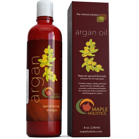 Maple Holistics Argan Oil Shampoo, Healthy Hair Growth, Natural Hair Care Product, 8