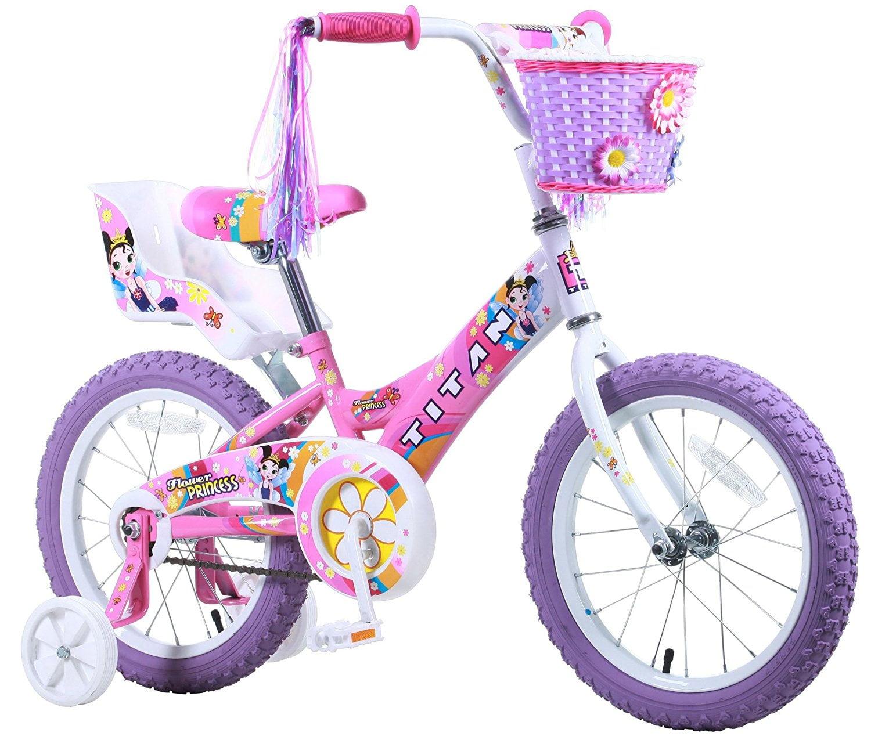 Titan Girl's Flower Princess BMX Bike, Pink, 16-Inch by BIKE USA