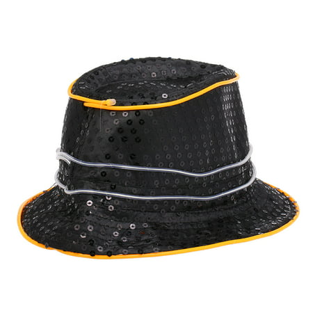 Cool Bling Sequins LED Light up Glowing Hip Hop Jazz Hat Cowboy Cap Flashing Party Halloween Supplies](Hip Hop Halloween Party San Francisco)