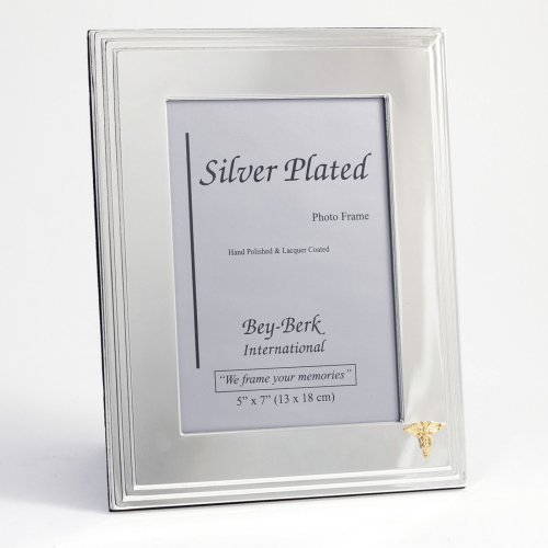 Bey-Berk Dental Silver-Plated 5 x 7 in. Photo Frame - Tarnish Proof