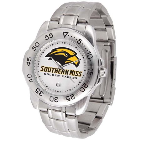 Southern Cal Watch (Southern Miss Sport Men's Steel Band Watch )