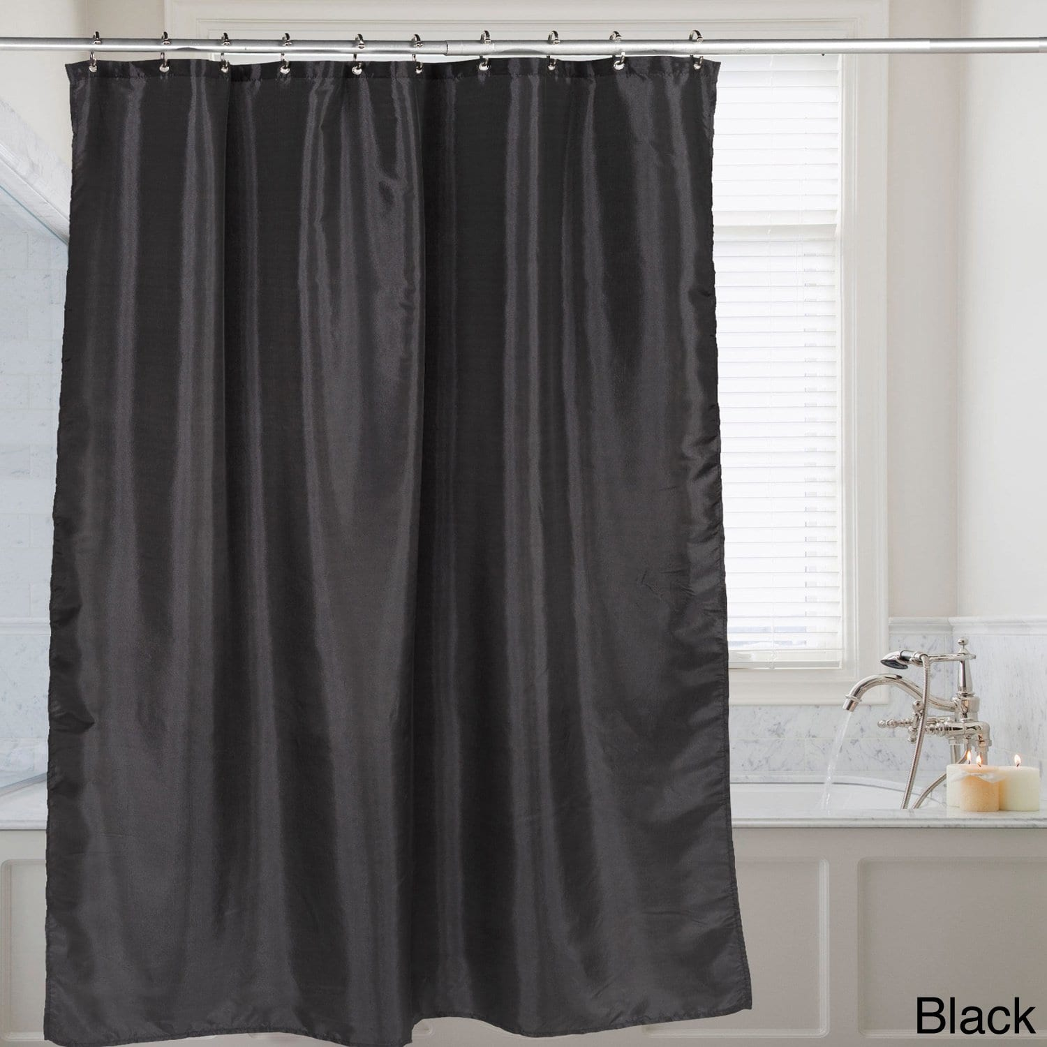 bed bath n more Faux Silk Shower Curtain 70x72 Assorted Colors