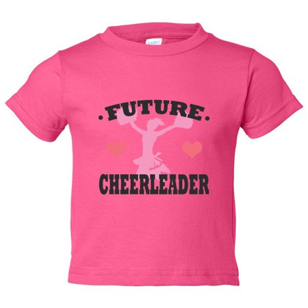 "Girls Cheer-leading Youth ""Future Cheerleader"" Toddler Cheering Shirt 4T Toddler, Hot Pink](Hot Girl In Superman Shirt)"