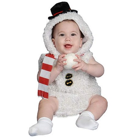 Dress Up America 361-0-6 Baby Plush Snow Man Costume - Size 0-6 Months](0-6 Month Baby Costumes)