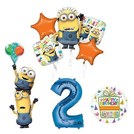 Despicable Me 3 Minions Stacker 2nd Birthday Party Supplies - School Supplies Stores Near Me