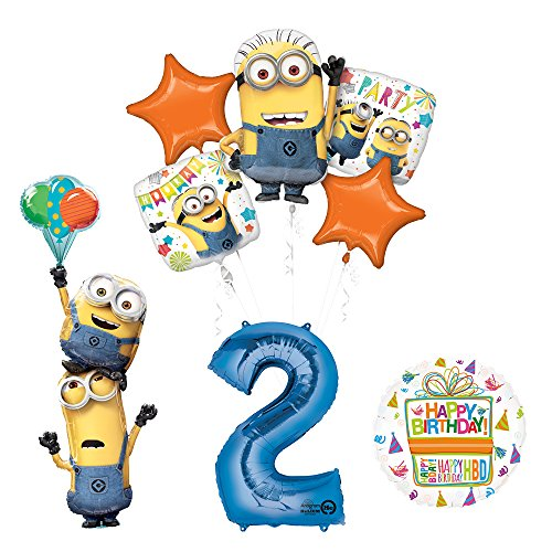 Despicable Me 3 Minions Stacker 2nd Birthday Party Supplies