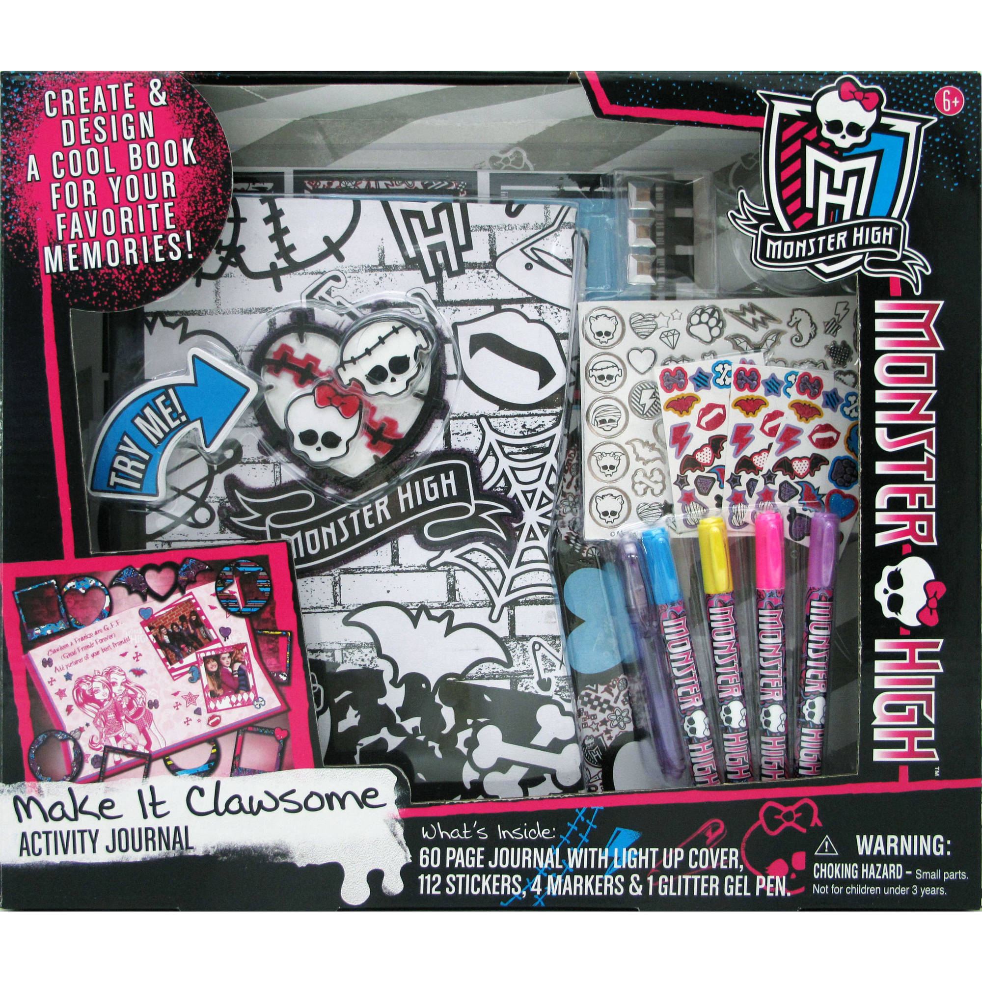 Monster High Light Up Journal