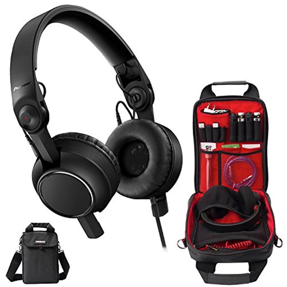 Pioneer HDJ-2000MK2-K Pro DJ Headphones (Black) & Magma MGA47890 Riot Headphone Bag