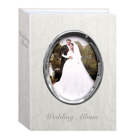Pioneer WFM-46 Oval Framed Wedding Album Silver Frame & Wedding (Silver Oval Frame)