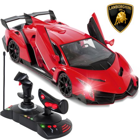 Best Choice Products 1/14 Scale Kids Remote Control Luxury Car Lamborghini Veneno RC Toy w/ Gravity Sensor, Engine Sounds, Head and Rear Lights, Opening Door -