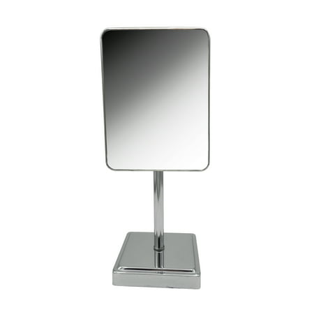 Indecor Home Square Cosmetic Glass Mirror in Chrome