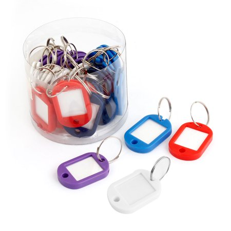 Rule Holder (Unique Bargains 25 Pcs Plastic ID Card Key ring Name Tag Badge Clip Holder Office Students Stationery Assorted)