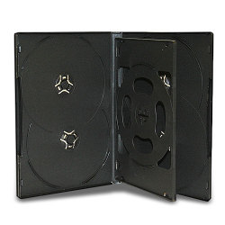 14mm Standard Black CD/ DVD Case (6 Discs with 1 Tray) (50 pack)