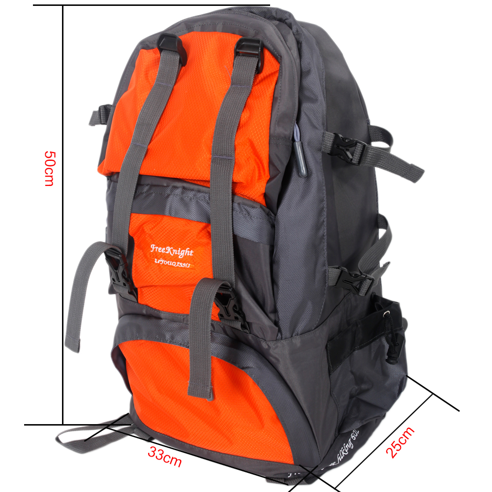 Zimtown 50L Climbing Waterproof Backpack, Travel Rucksack Bag for Camping Hiking Mountaineering Trekking Outdoor Sports