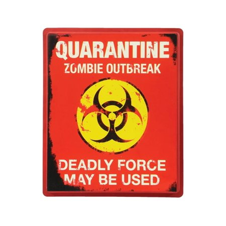 Quarantine Sign Halloween Party Decoration - image 1 de 1