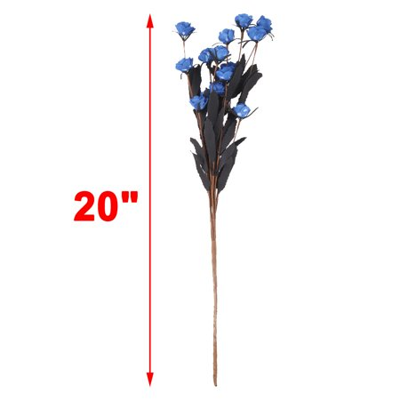 Wedding Garden Foam DIY Craft Emulational Artificial Flower Bouquet Decor Blue - image 3 of 4