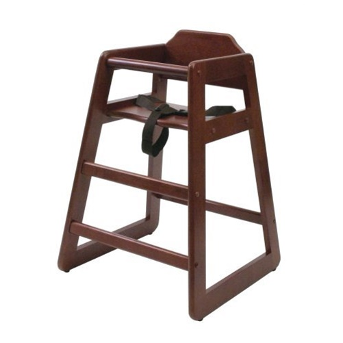 Lipper Child's High Chair, Cherry Finish