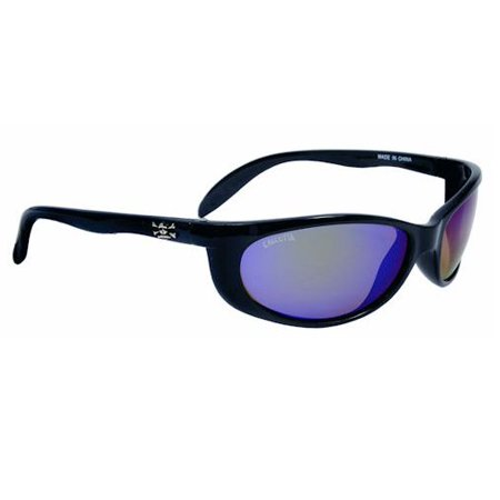 Calcutta SK1GM Smoker Sunglasses, Black Frame, Green Mirror Lens Polarized