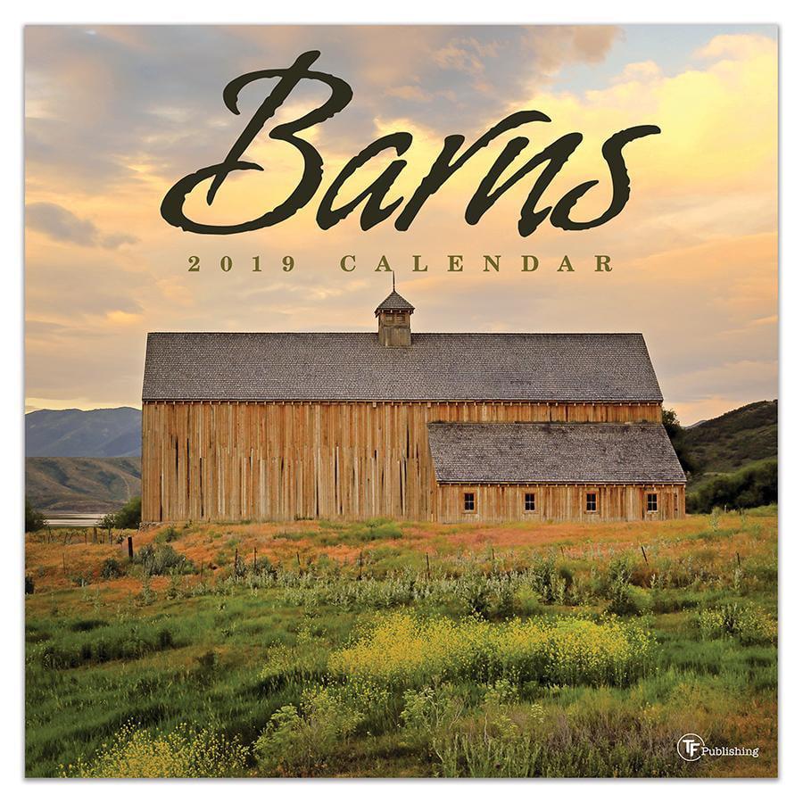 "2019 Barns 12"" x 12"" January 2019-December 2019 Wall Calendar by TF Publishing"