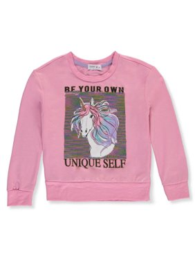 Beautees Girls' Be Your Own Unique Self Sweatshirt