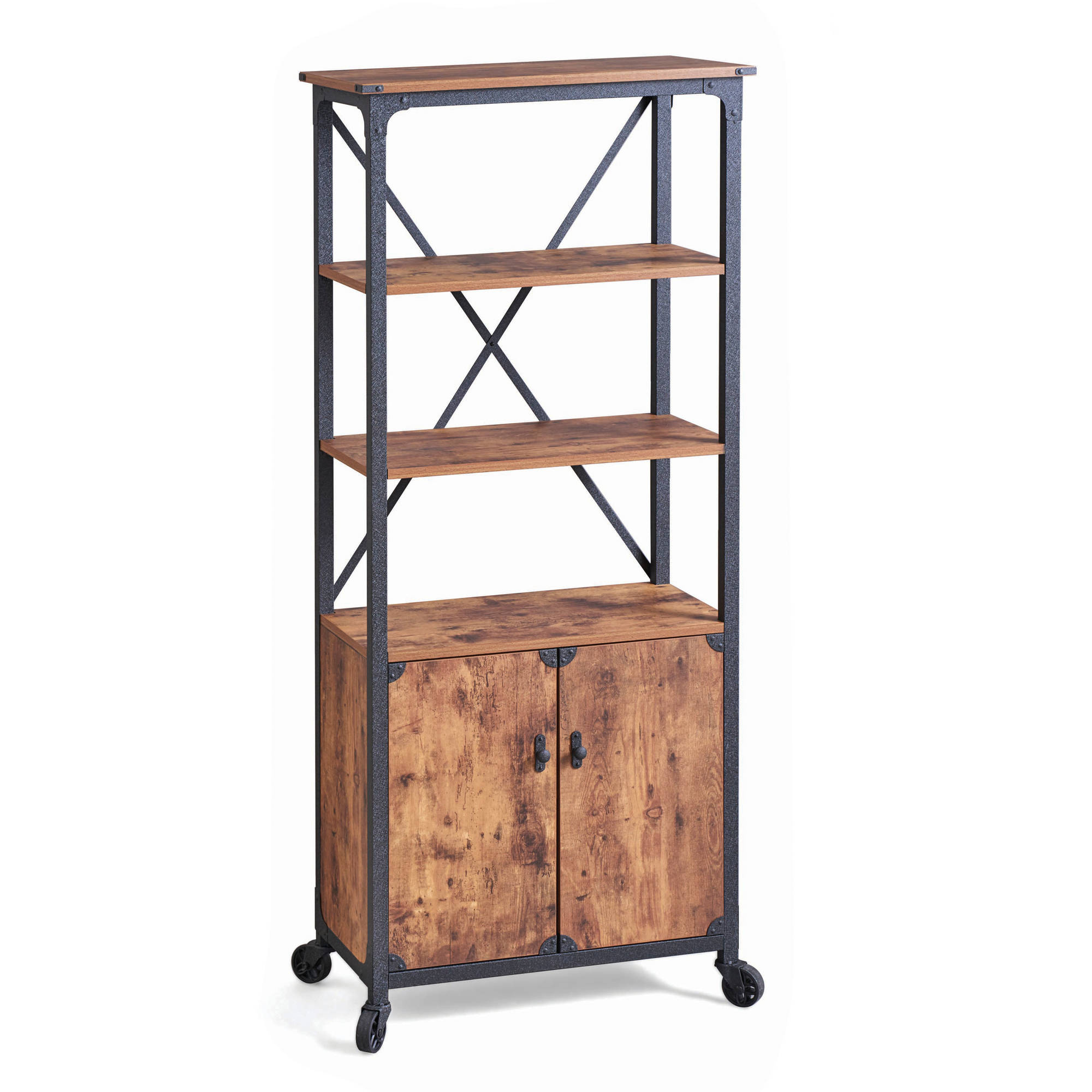 Better Homes & Gardens Rustic Country Library, Weathered Pine Finish