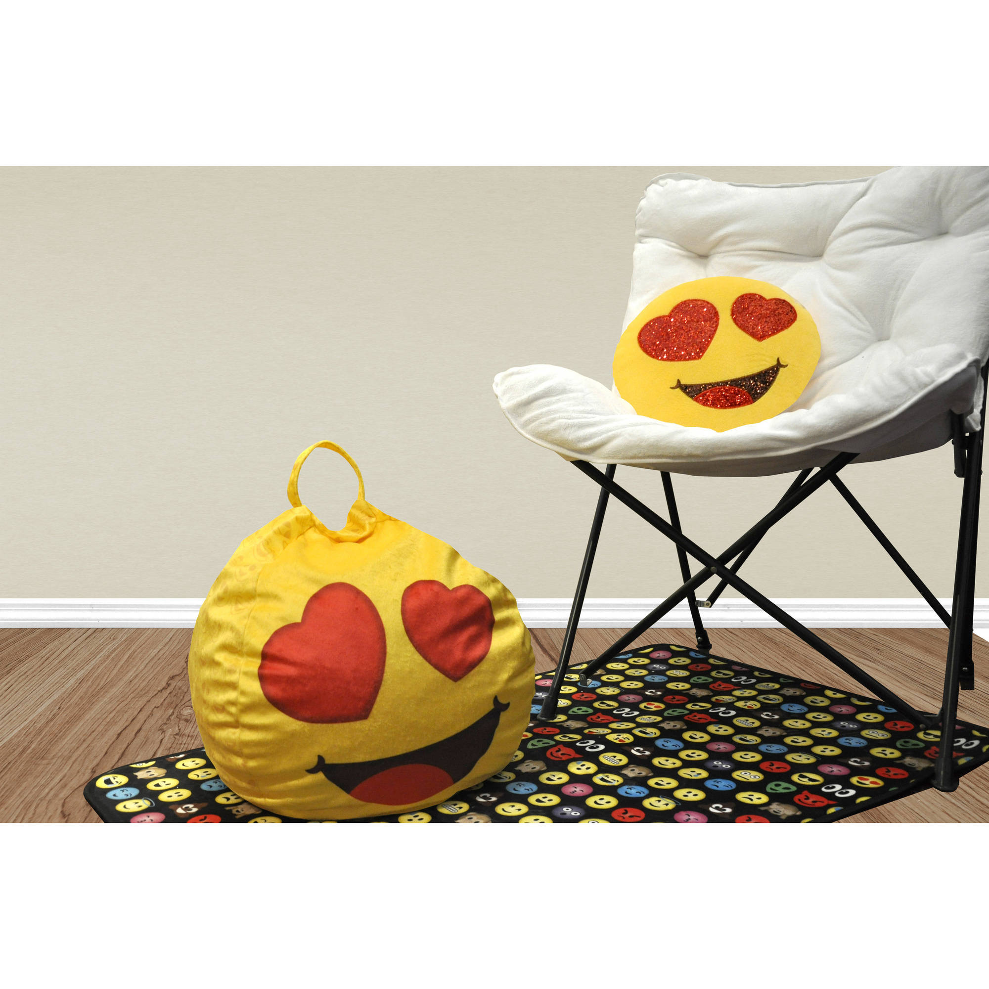 Emoji Pals Eyes For You Mini Bean Bag with Handle