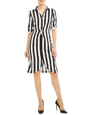 product image womens twist front shirt dress