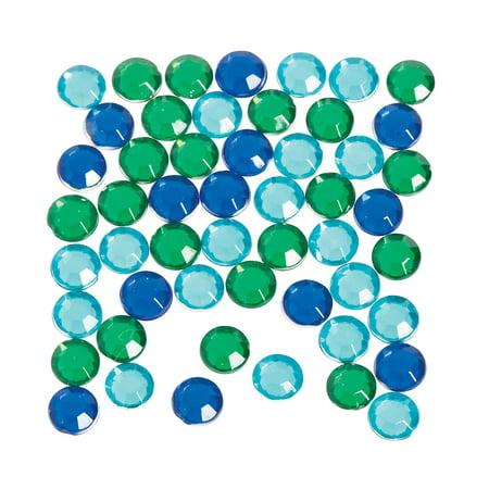 Fun Express - 4.5mm Faceted Acrylic Gems Blue Tone - Craft Supplies - Bulk Craft Accessories - Jewels - 1 Piece 4.5mm Faceted Acrylic Gems Blue Tone - Craft Supplies - Bulk Craft Accessories - Jewels - 1 Piece
