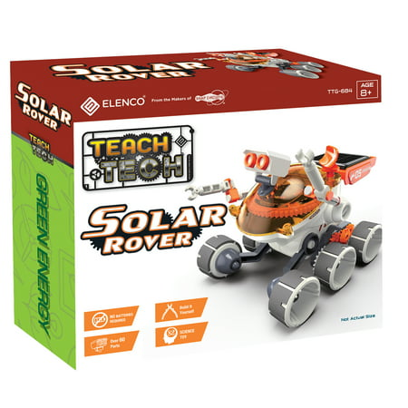 Teach Tech Solar Fun 6 | Build-It-Yourself Solar Powered Robot Rover| STEM Educational Toys for Kids Age