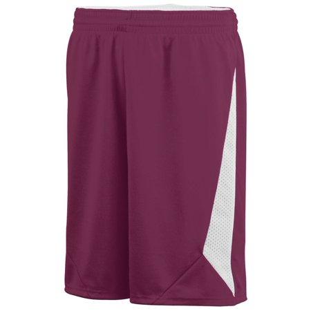 Augusta Sportswear S Slam Dunk Shorts Maroon/White 1175