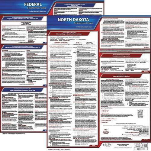 JJ KELLER 100-ND-K Labor Law Poster Kit, ND, English, 19 In. W
