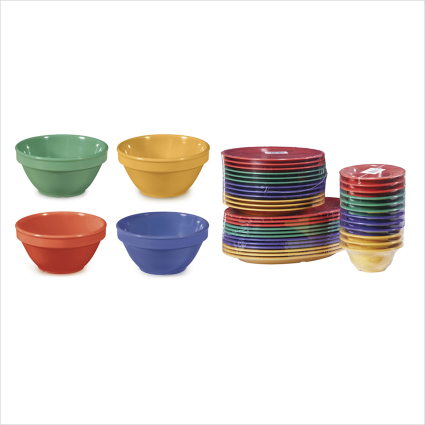 Diamond Mardi Gras 8 oz 4.5 x 2.25 Bowl Mix Pack of 4 Mardi Gras Colors Melamine/Case of 48