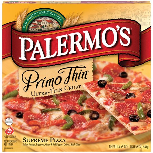 Palermo's Supreme Primo Ultra-Thin Crust Pizza, 16.15 oz