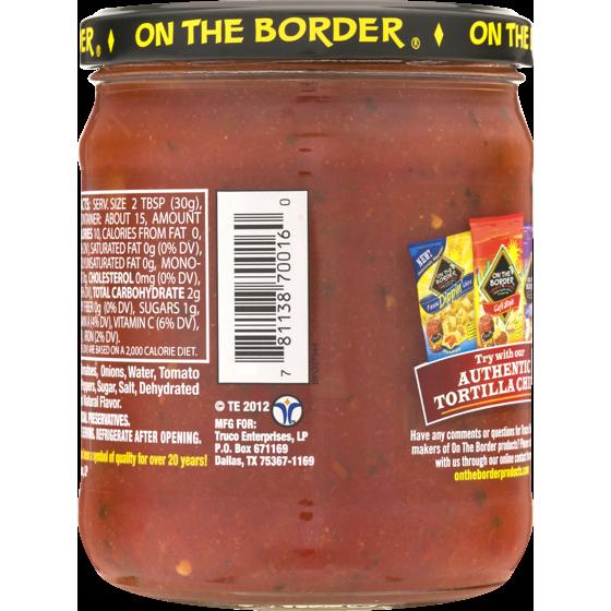 On The Border Mexican Grill Cantina Medium Salsa 16 Oz Walmart Com