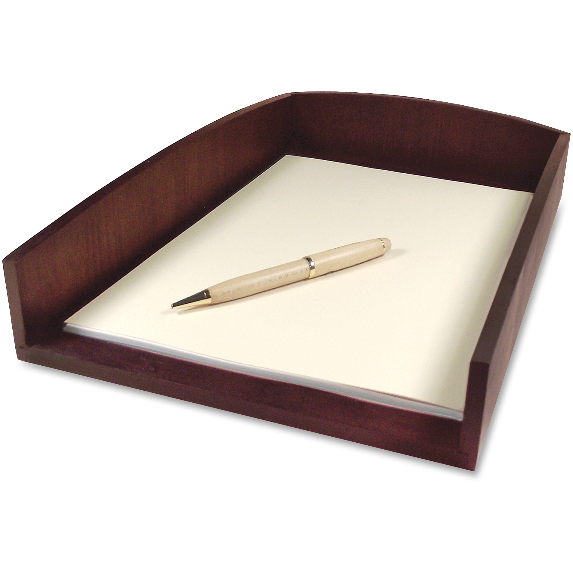 Artistic Eco-Friendly Bamboo Curves Letter Tray, Letter, Espresso Brown by Artistic Products, LLC