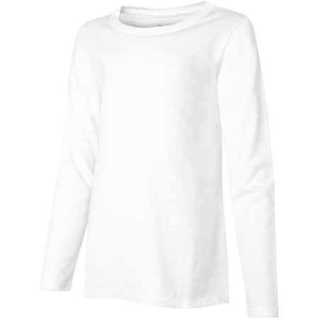 Hanes Girls Lightweight Long Sleeve - Xl Girls Ebony