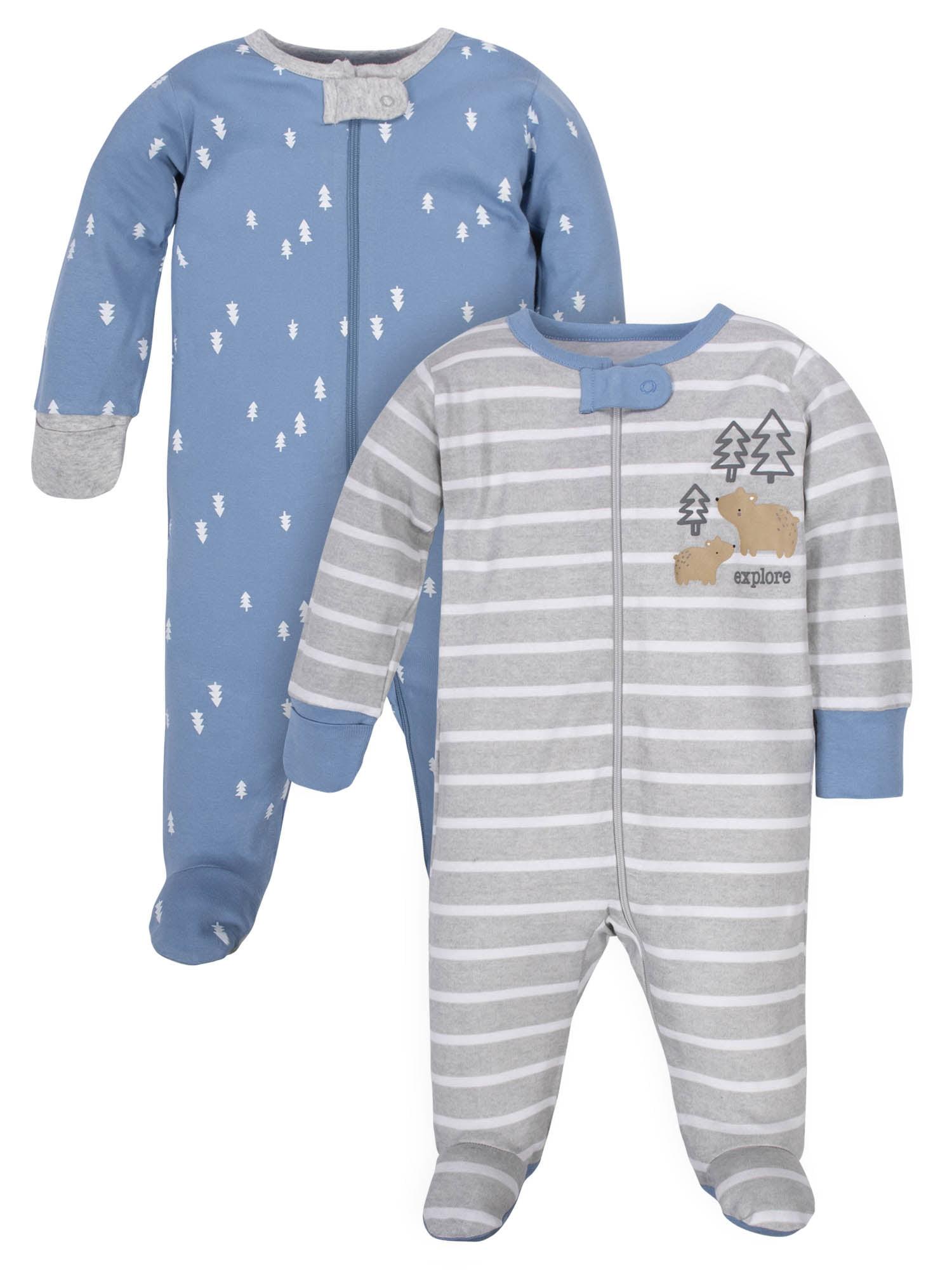 Wonder Nation - Wonder Nation Baby Boy Pajamas Zip Up ...