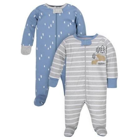 Wonder Nation Zip Front Sleep 'N Play, 2pk (Baby (True Religion Infant Boys Baby 3 Piece Set)