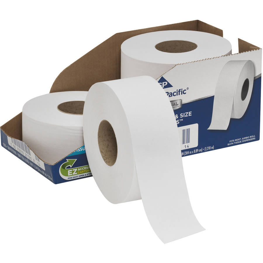 Georgia Pacific Professional White Jumbo 2-Ply Bathroom Tissue, 4 count