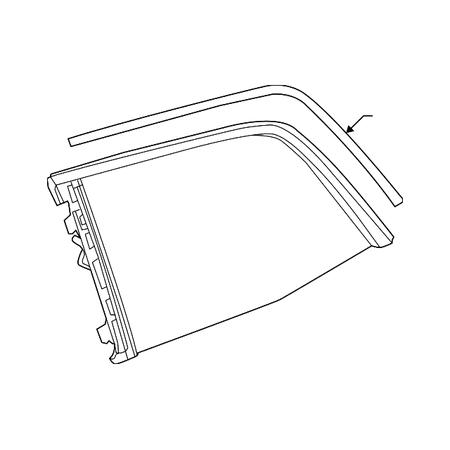 Genuine OE Mercedes-Benz Quarter Glass 166-670-03-49